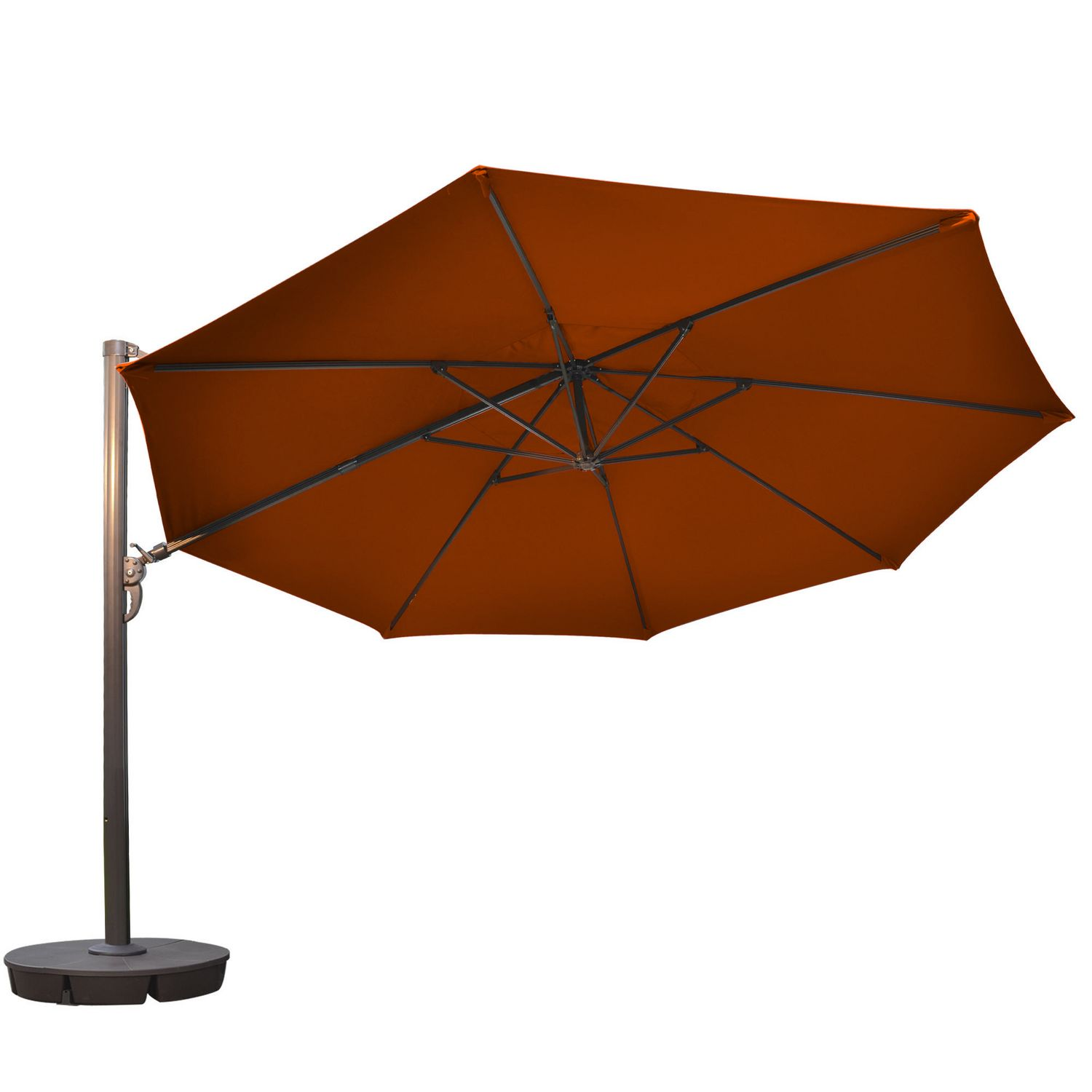 100 red patio umbrella rotating 13 ft offset patio umbrella