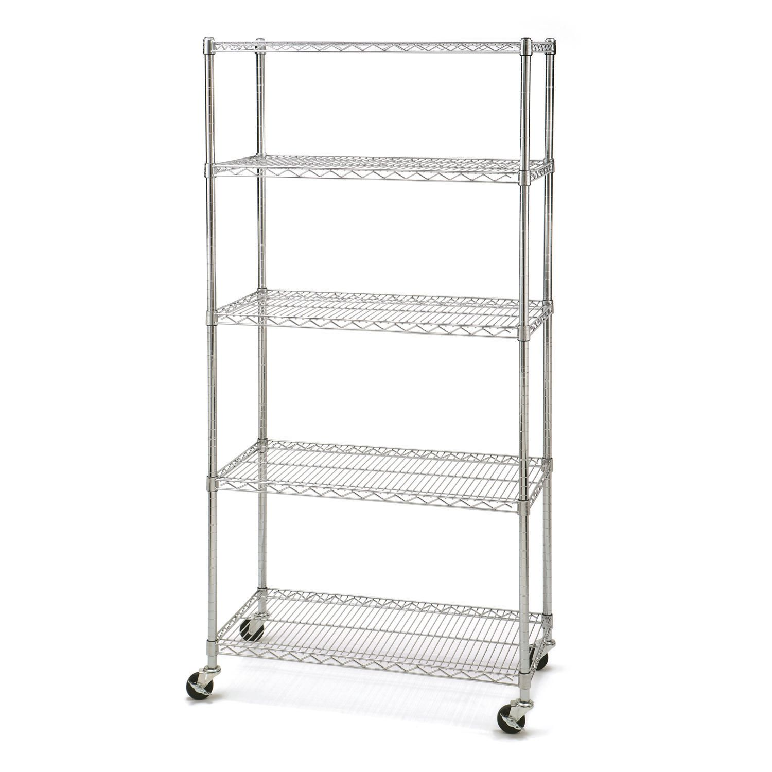 Seville Classics 5 Shelf Shelving with Wheels | Walmart Canada