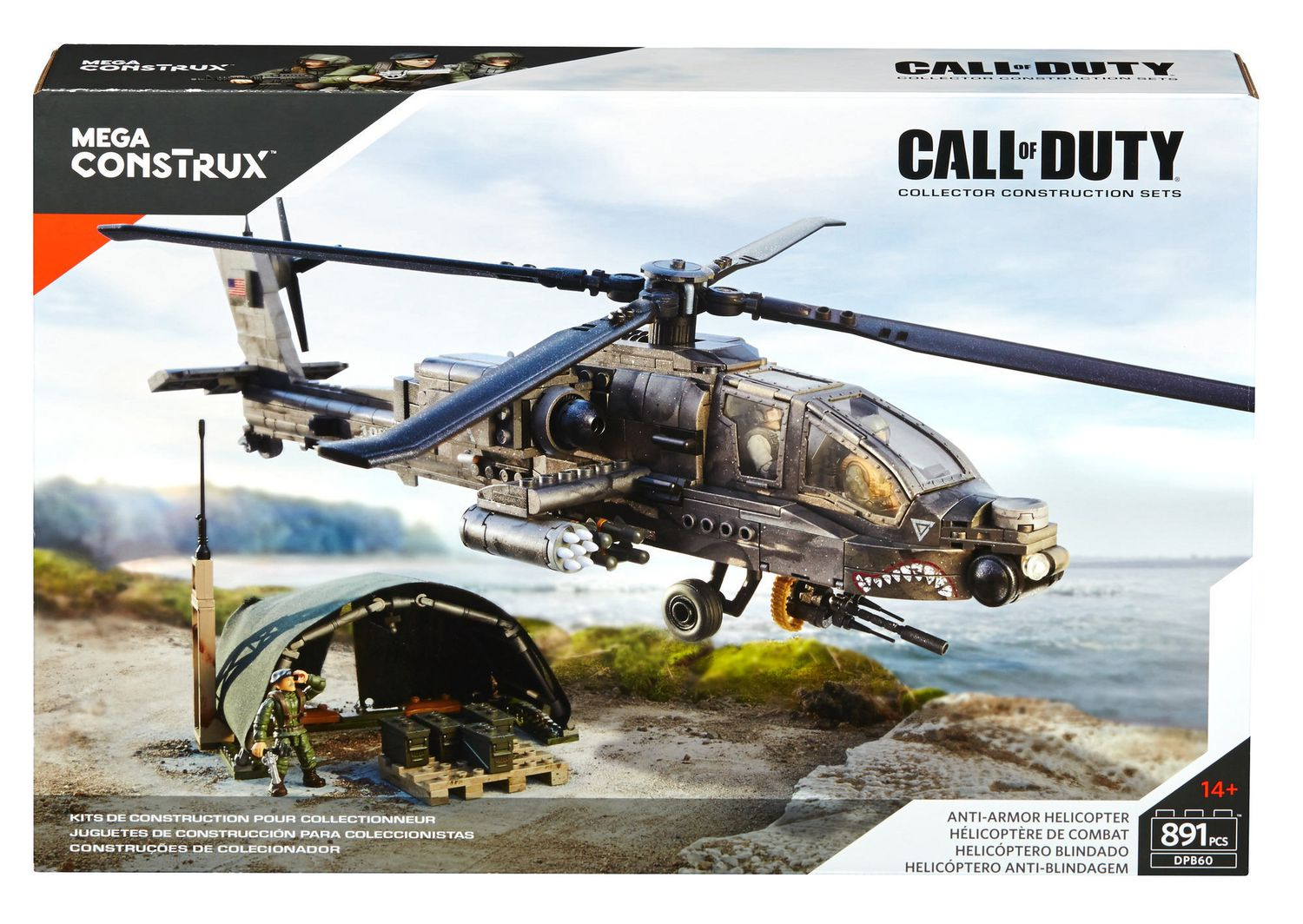 Call of Duty Mega Bloks Anti Armor Helicopter Collector Construction Set NEW