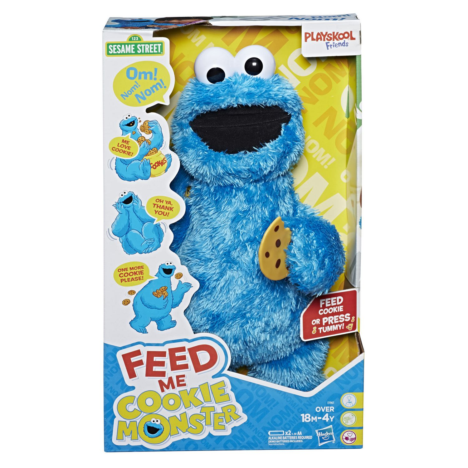 Belly Rumble Furry: Playskool Friends Sesame Street Feed Me Cookie Monster