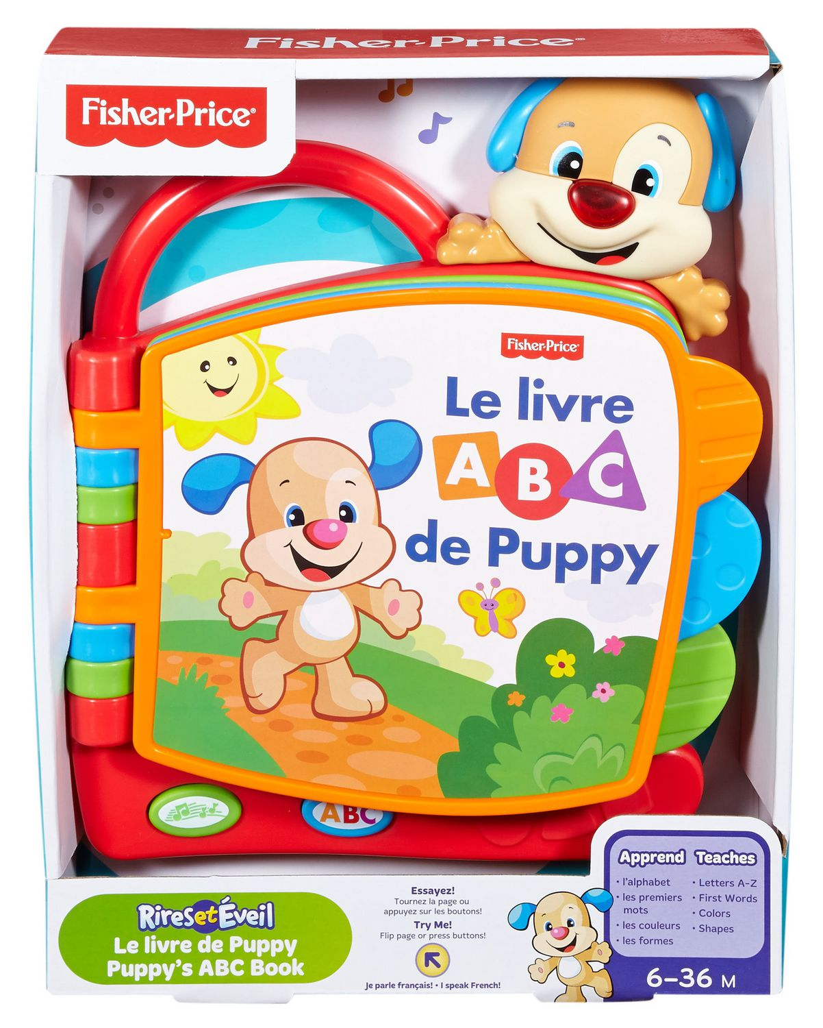 Fisher Price Laugh Learn Puppy S Abc Book French Edition