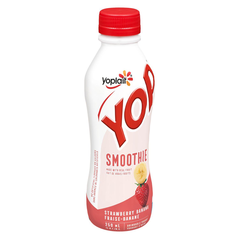 Yop by Yoplait Strawberry Banana Smoothie Drinkable Yogurt
