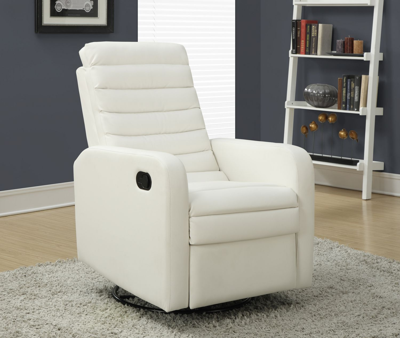 Monarch specialties swivel rocker recliner white walmart canada