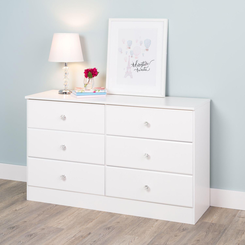 Prepac Astrid 6 Drawer Dresser Crystal White Walmart Canada