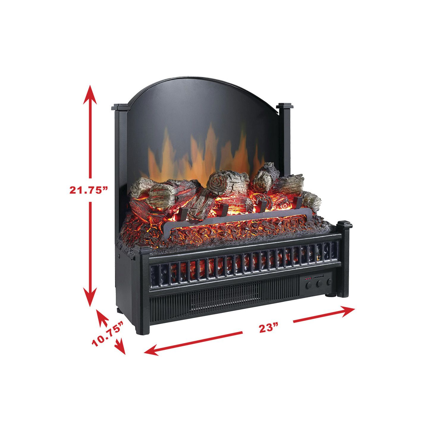 pleasant hearth electric insert with heater electric log walmartca