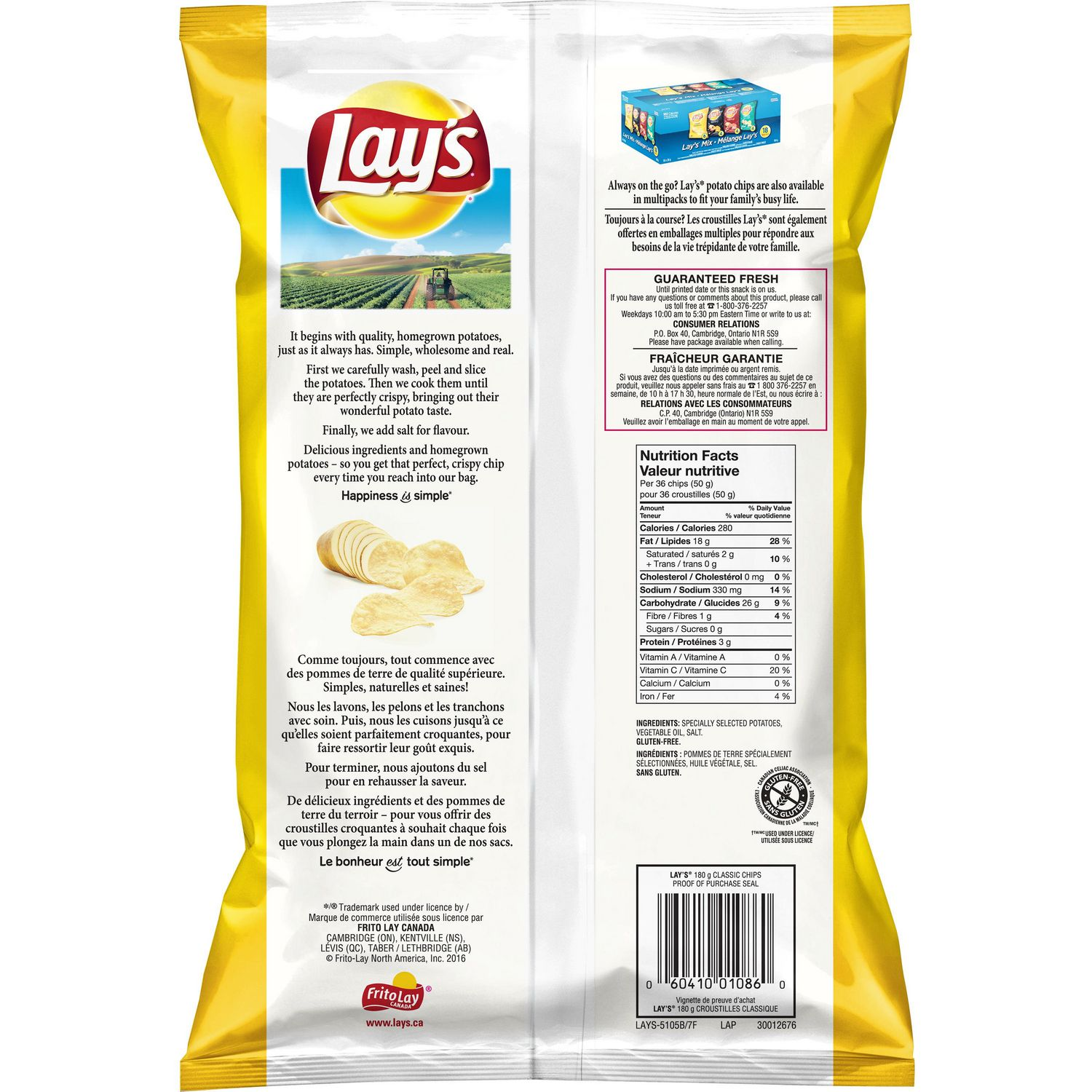 lay's classic potato chips | walmart canada