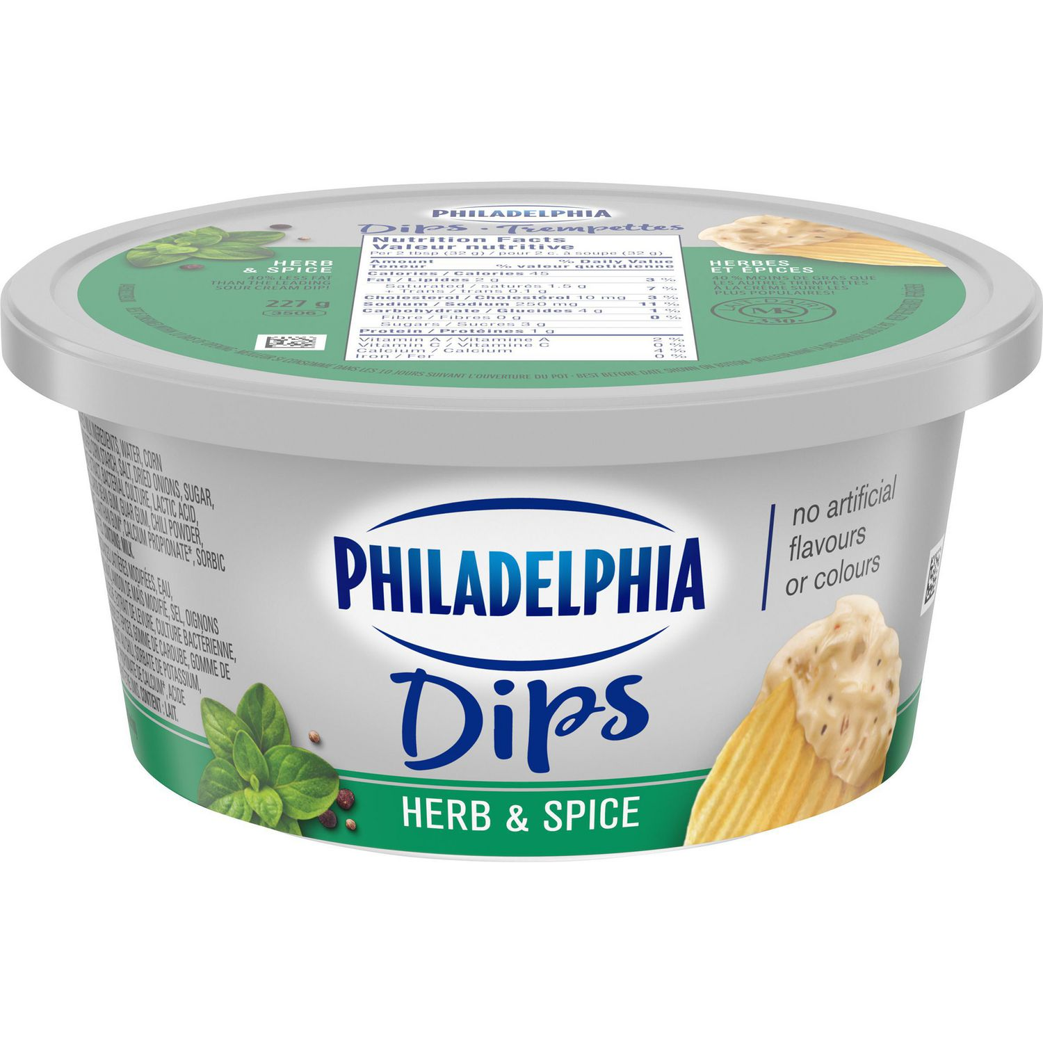 Philadelphia Sour Cream Herb & Spice Dip