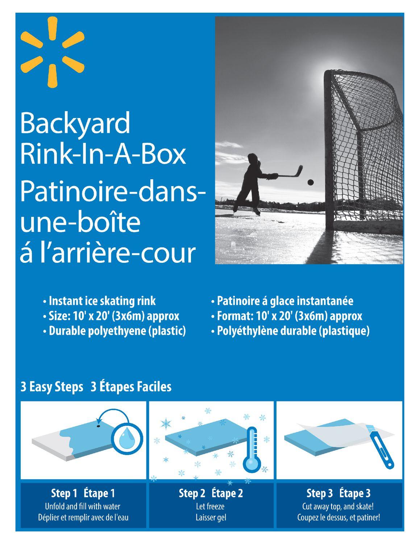 Rink In A Box Walmart Canada Backyard rink kit walmart