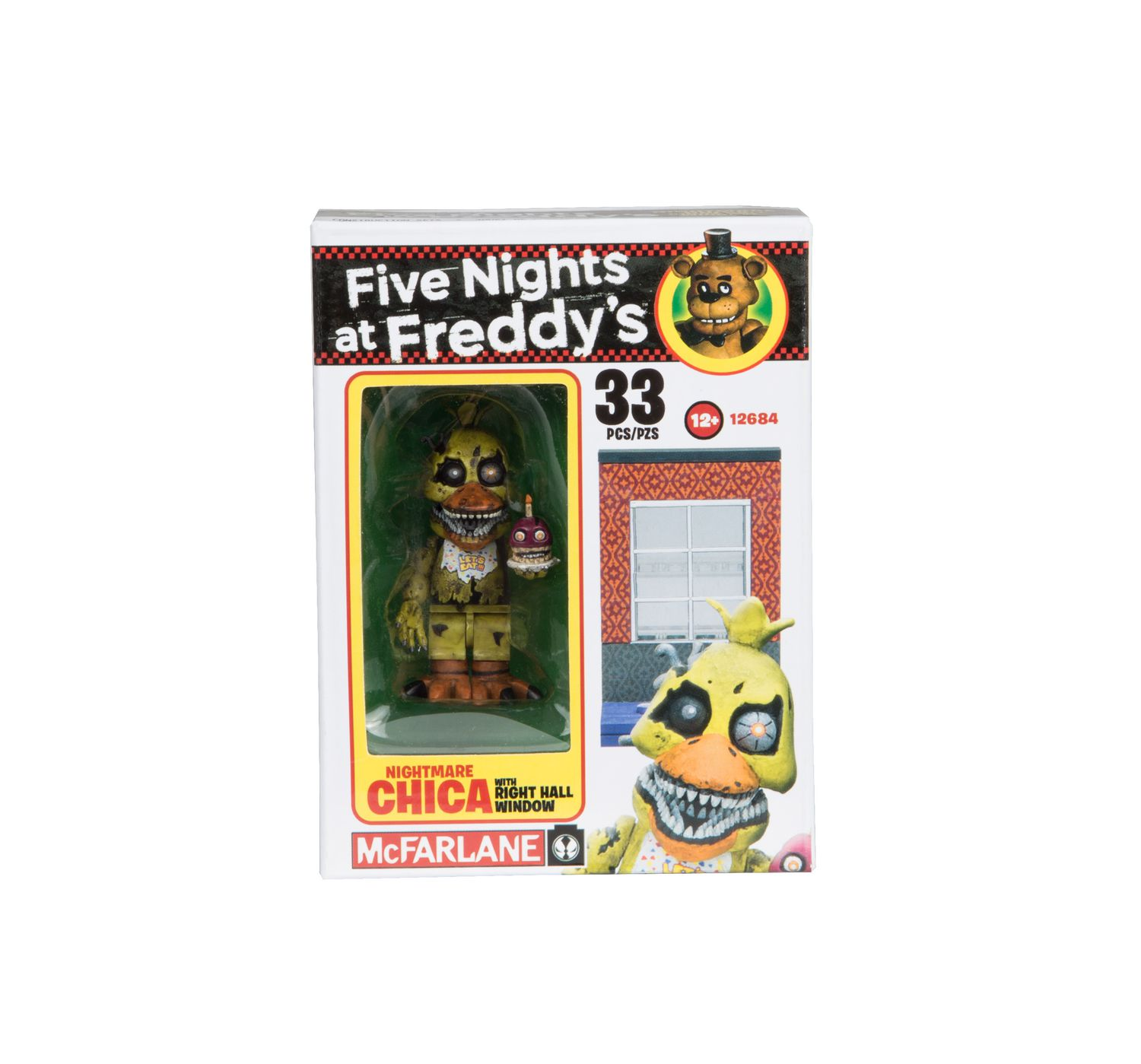 McFarlane Five Nights at Freddy's Season 2 Micro Construction Set -  Nightmare Chica with Right Hall Window