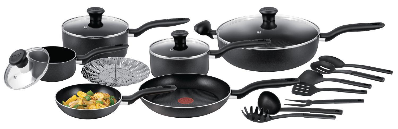 T Fal Simply Cook 18 Piece Non Stick Cookware Set