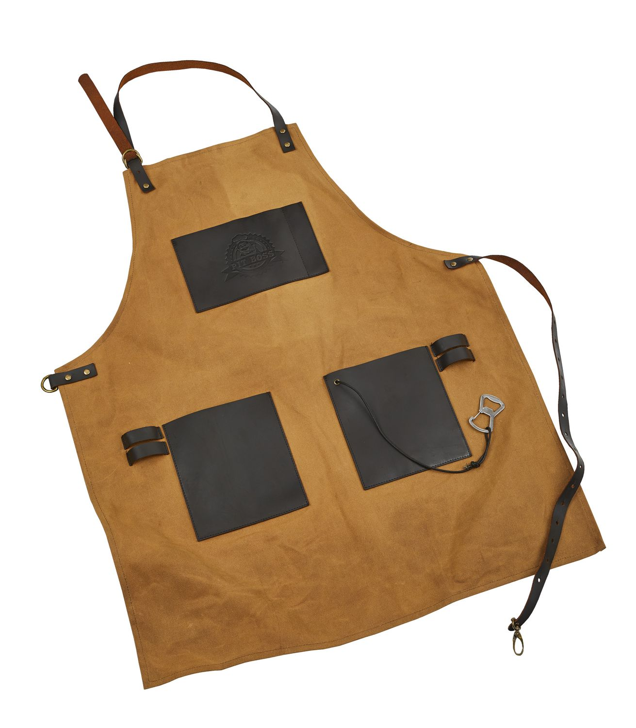 Pit Boss BBQ Canvas & Leather Grilling Apron - Best Barbecue Apron