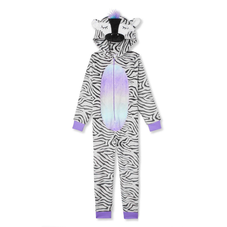 Girl Trolls Onesie All in One Pyjamas Fleece Hooded