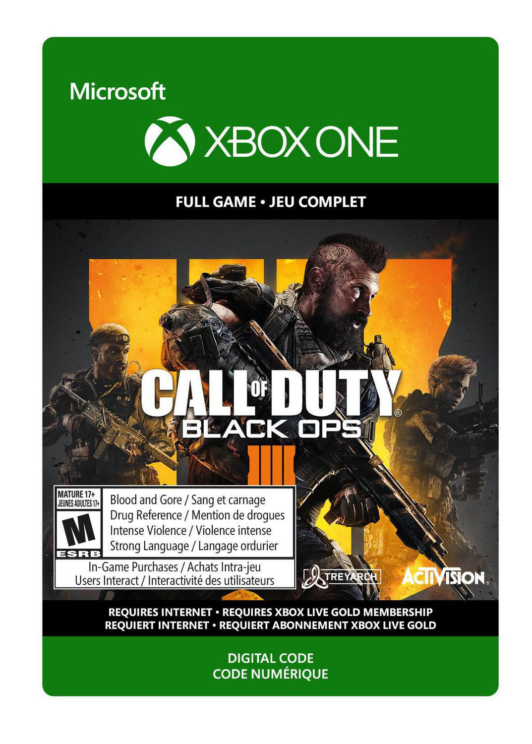 Xbox One Call Of Duty Black Ops 4 Digital Edition Download