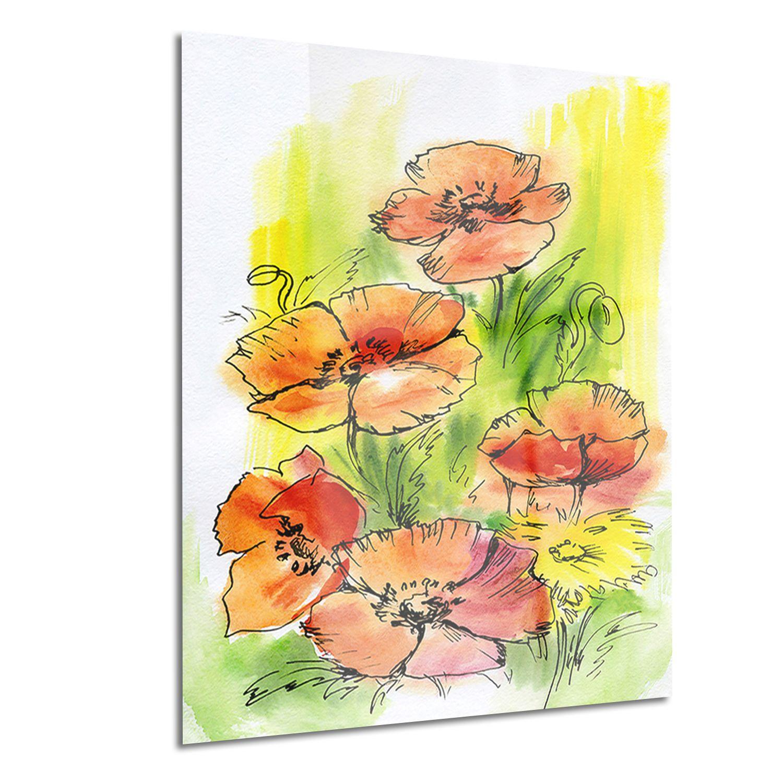 Design Art Bouquet Poppies Floral Metal Wall Art | Walmart Canada