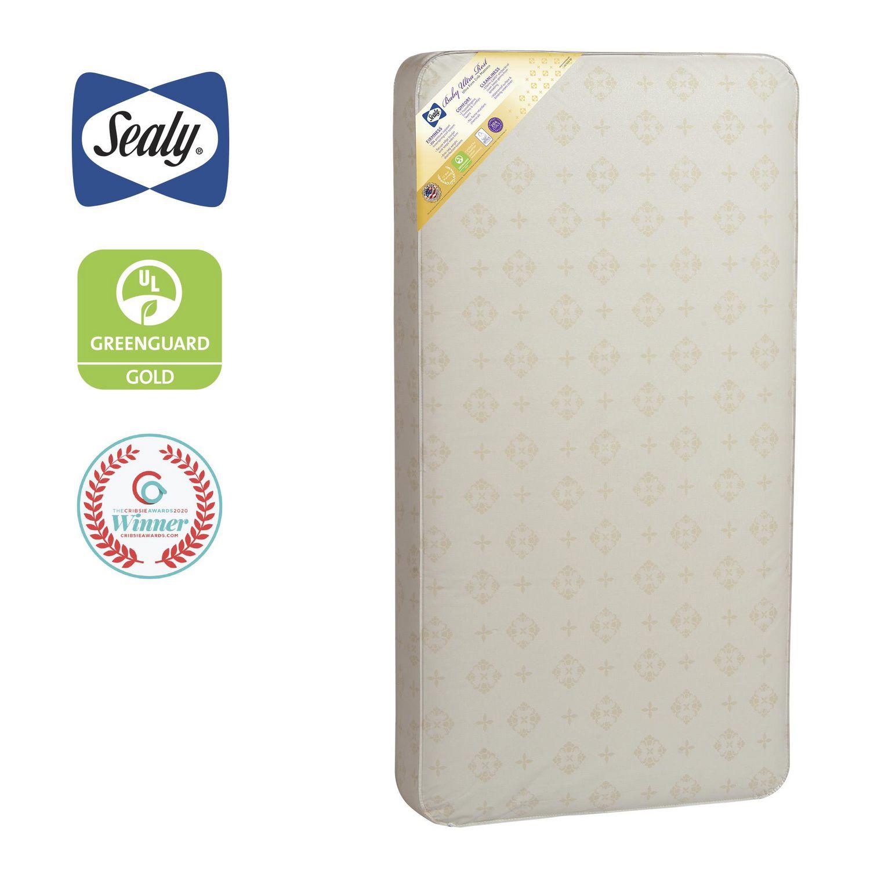 Best Greenguard Mattress - Beige-coloured Sealy Baby Ultra Rest crib mattress