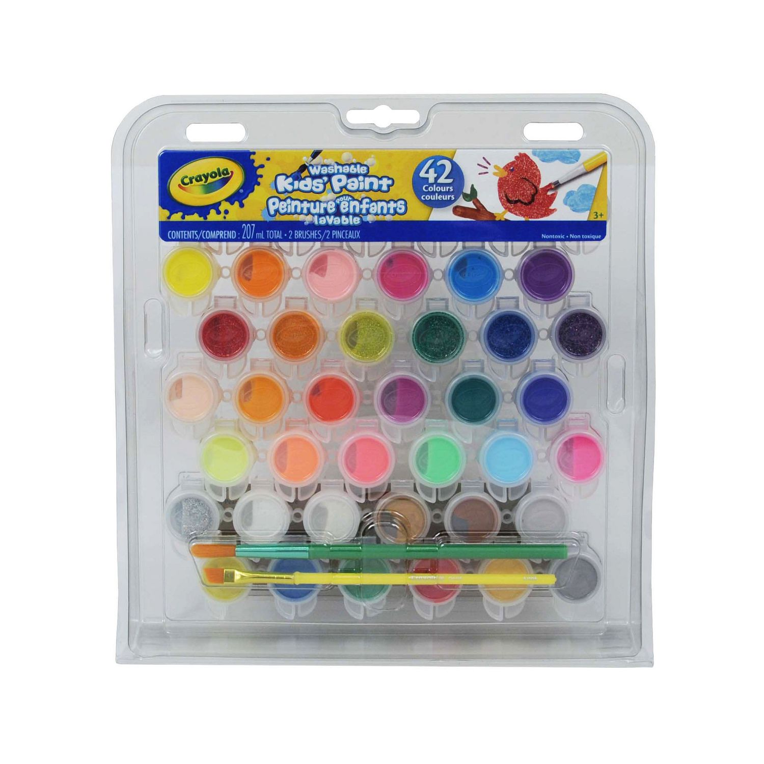 ARTS CRAFTS PLAY BRUSH WATER COLOUR NON-TOXIC PAINTS KID CHILDREN PAINTING SET