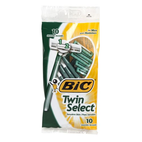 Useful Bic Usa Twin Select Sensitive For Men Disposable Shaver 10 Shavers