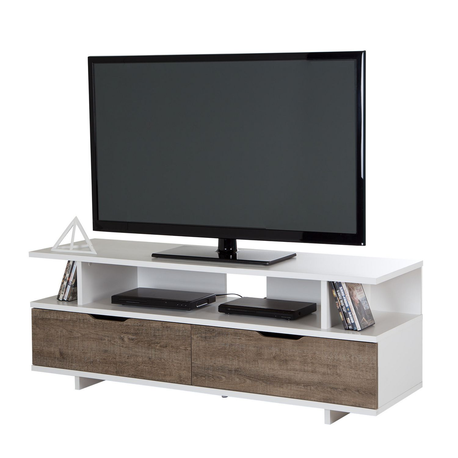 south shore reflekt tv stand with drawers for tvs up to  inches  - south shore reflekt tv stand with drawers for tvs up to  inches walmartca