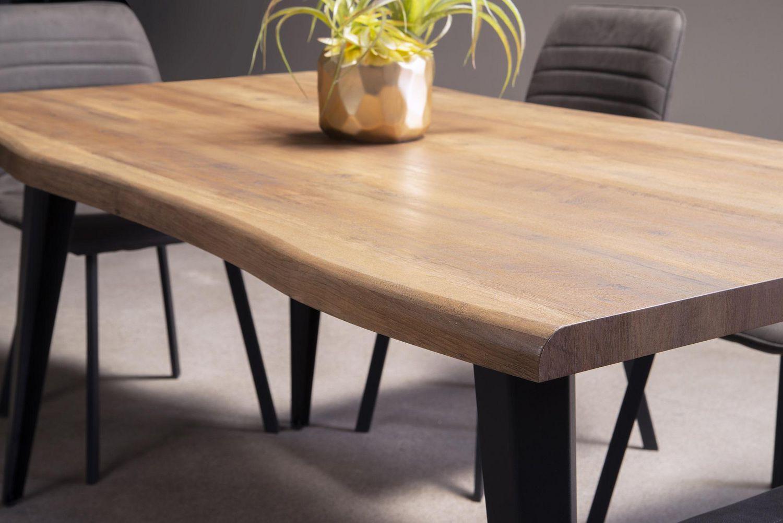 Topline Home Furnishings Grey Live Edge Dining Table Walmart Canada