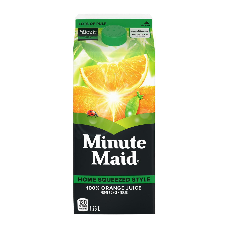 Minute Maid Jus D Orange Style Presse Maison 1 75l Walmart Canada