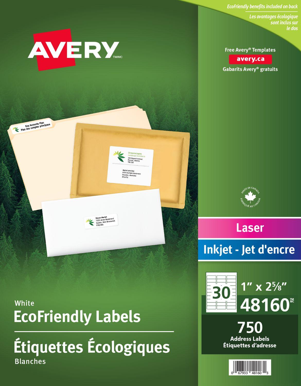 avery eco friendly address labels walmart canada