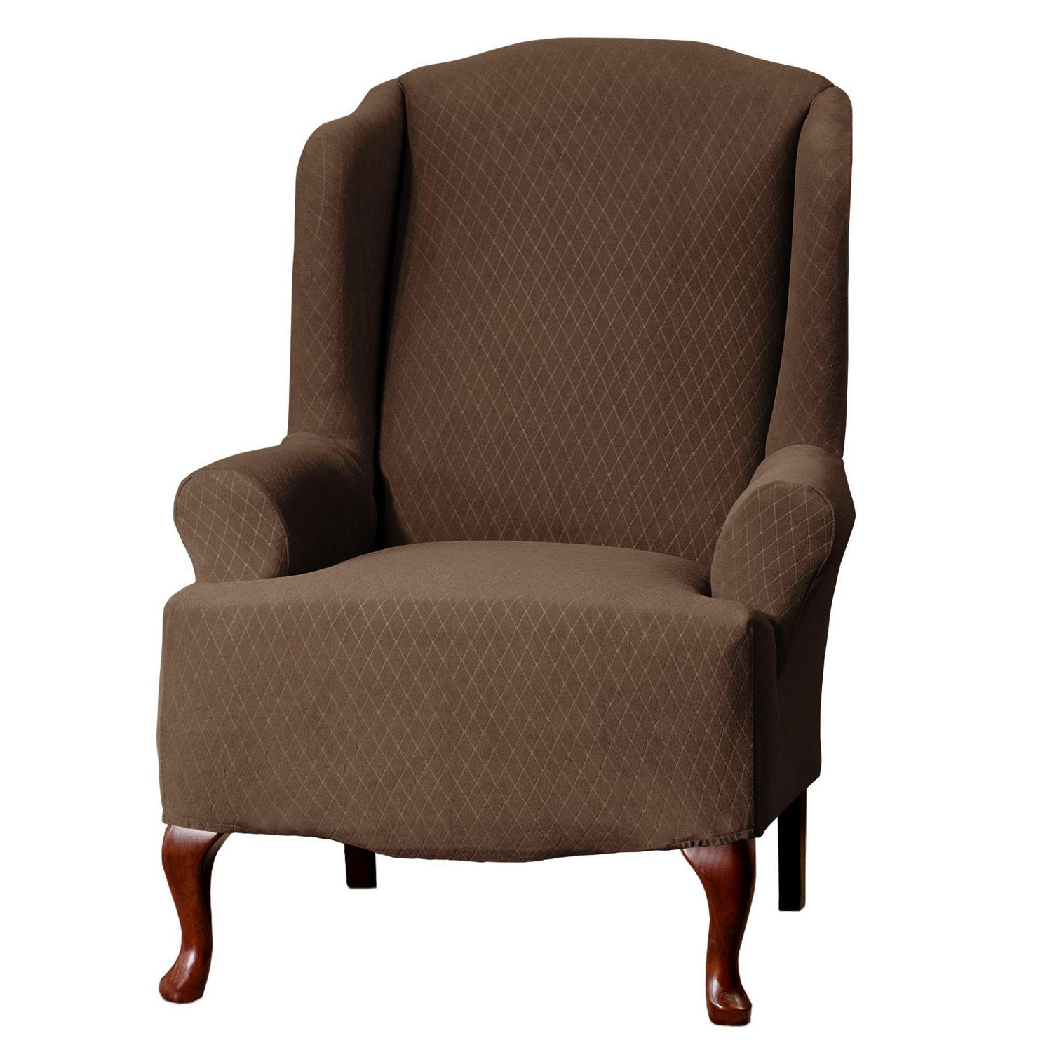 SureFit™Diamond Stretch Wing Chair Slipcover