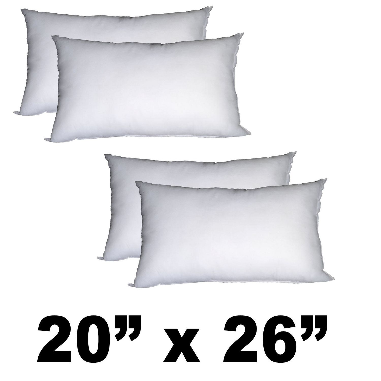 Pile of Pillows Form Insert Cushion-18X18-Inch-4 Pack