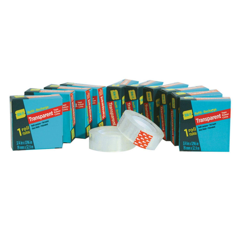 "9 Rolls 3//4/"" × 1000/"" Glossy Finish Transparent Tape 19MM × 25.4M"