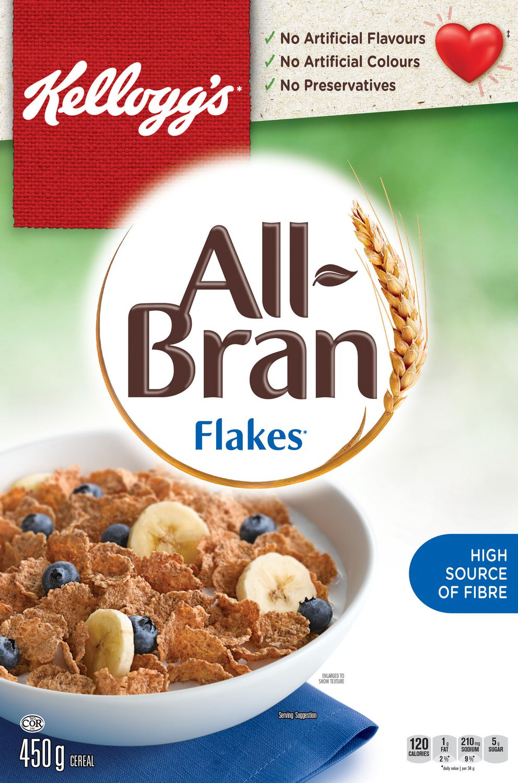 kellogg all bran flakes cereal 450g walmart canada