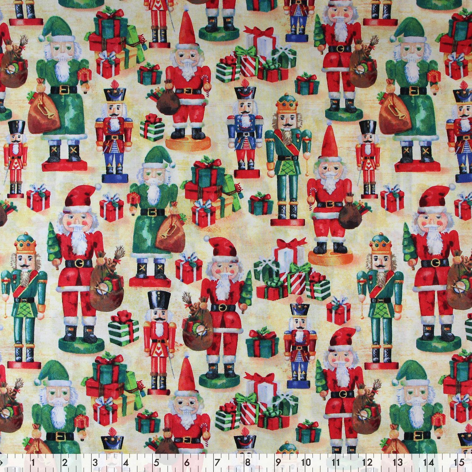 Fabric Creations Beige Christmas Nutcrackers Cotton Fabric By The Metre Walmart Canada