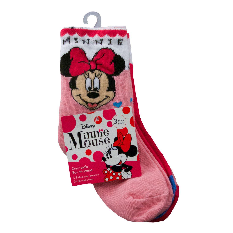 54f1d937a770f Infant Disney Minnie Crew Socks, 3 Pairs | Walmart Canada