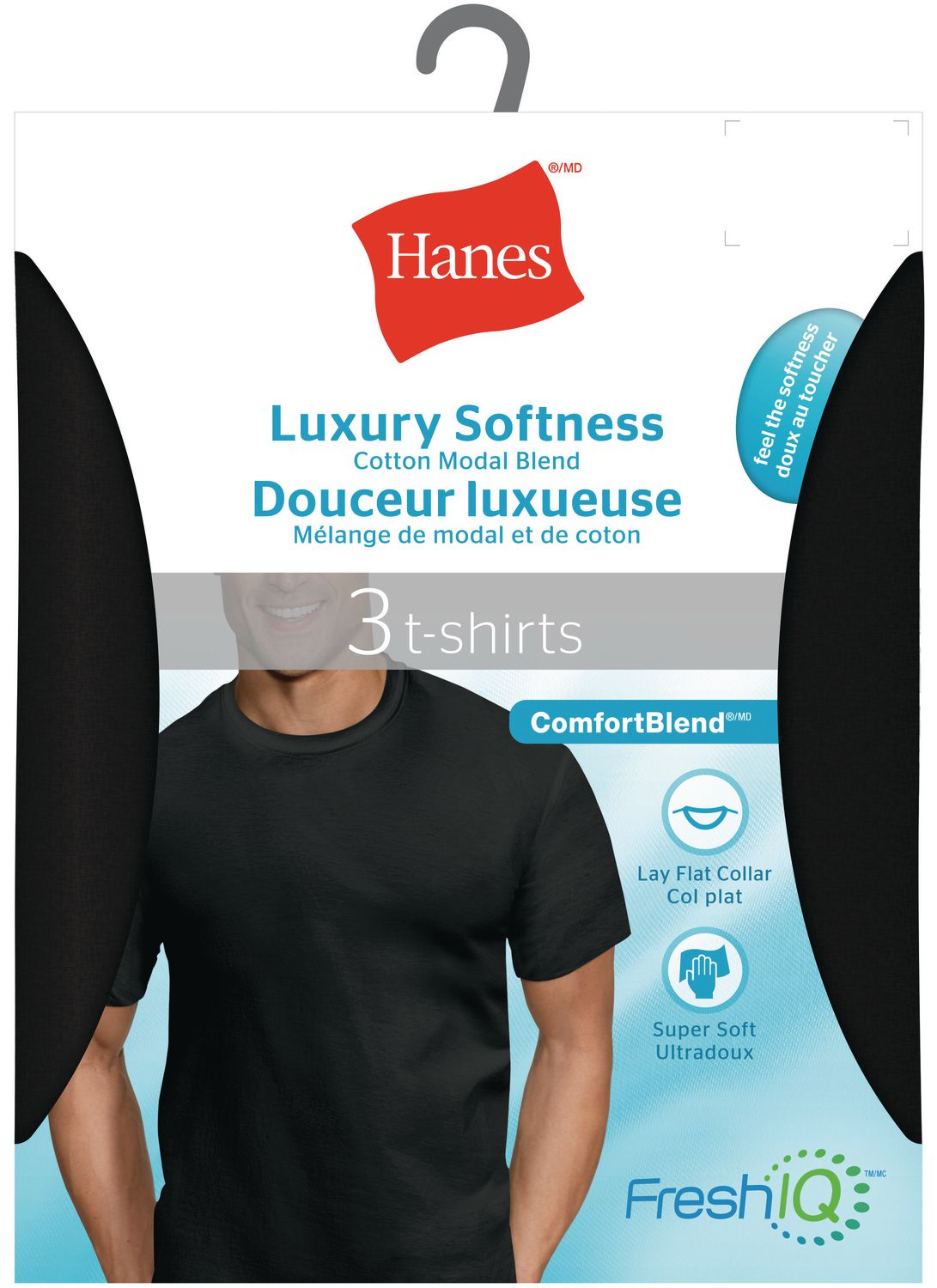 ea3bc310 Hanes Men's 3 Pack ComfortBlend Crew T-shirts - image 1 of 1 zoomed image