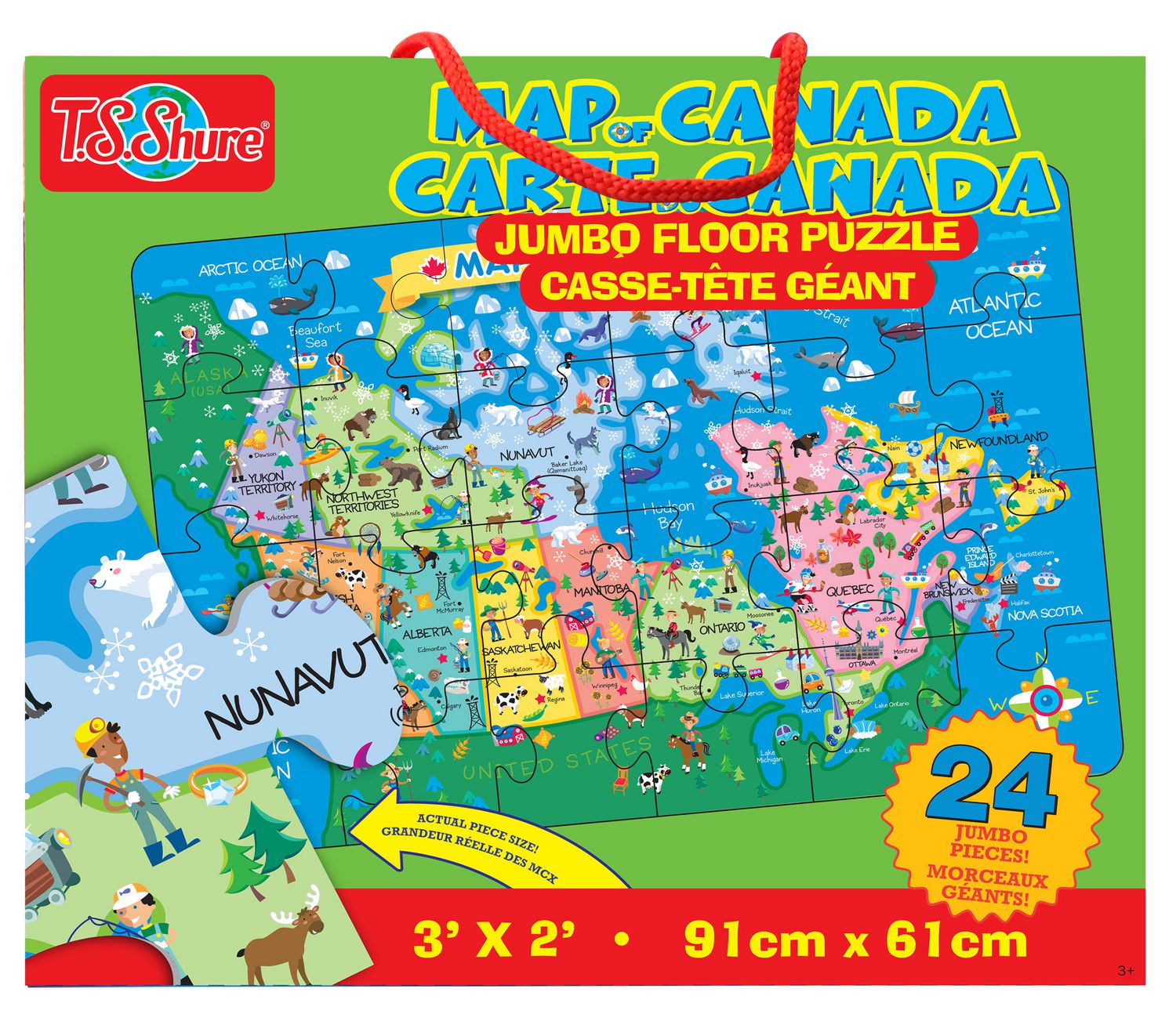 Map Of Canada Puzzle.T S Shure Map Of Canada Jumbo Floor Puzzle
