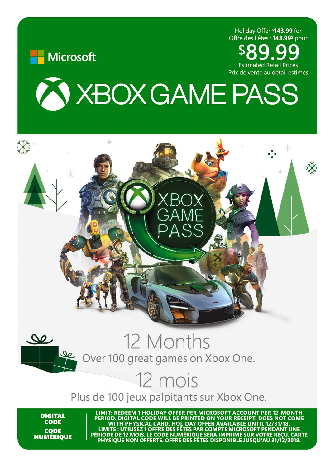 12 Month Xbox Game Pass Promo [Download] | Walmart Canada