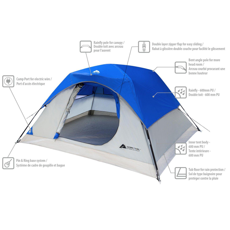 sc 1 st  Walmart Canada & Ozark Trail 3 Person Dome Tent | Walmart Canada