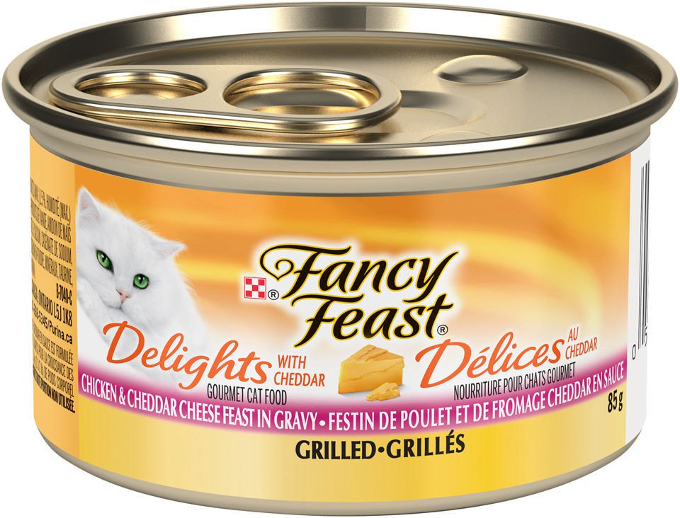 Purina® Fancy Feast® Delights with Cheddar Grilled Chicken ...