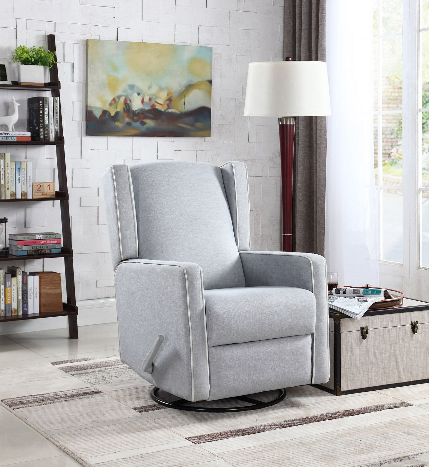 nursery inspirational petite glider best furnishings recliner rocker by home chair recliners of swivel