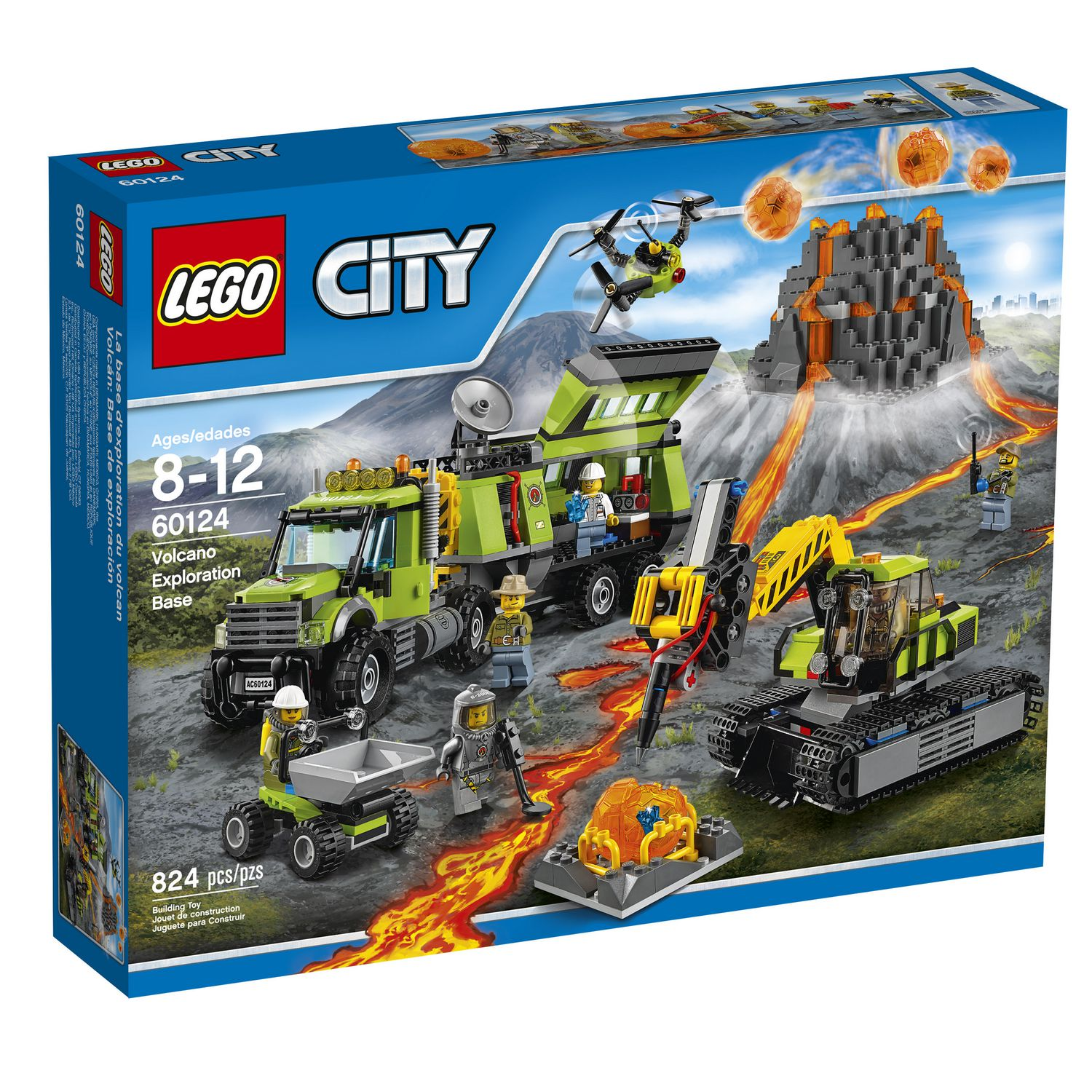 LEGO® City In/Out - Volcano Exploration Base (60124 ...