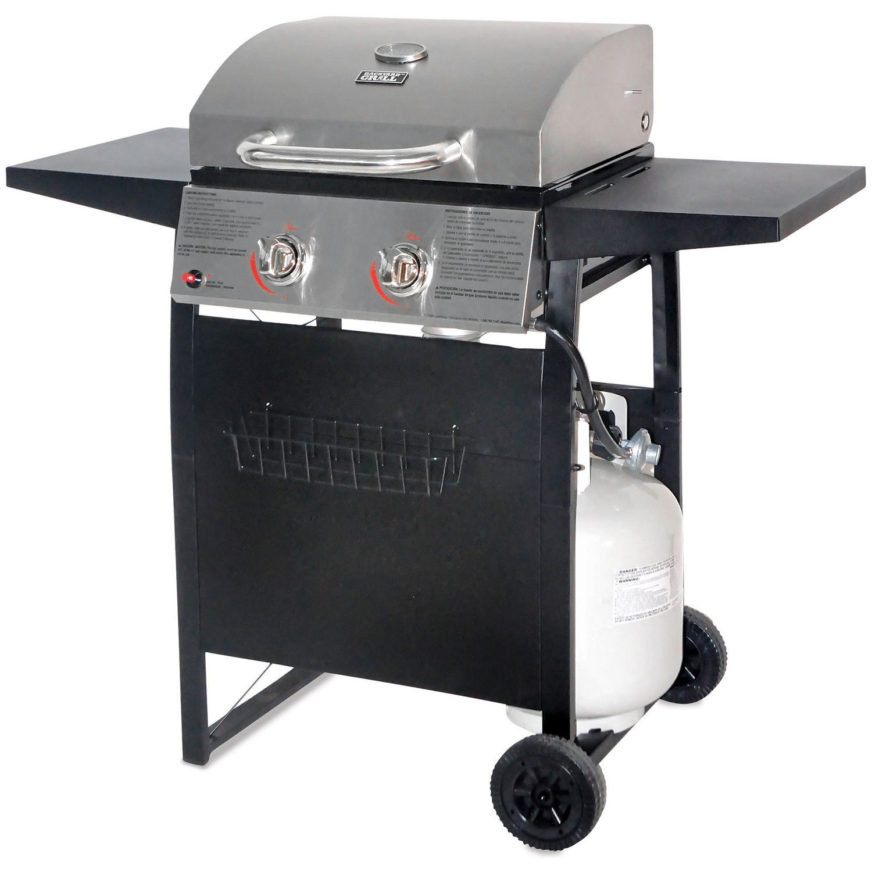 Backyard Grill Stainless Steel Lid 2 Burner Propane Gas ...