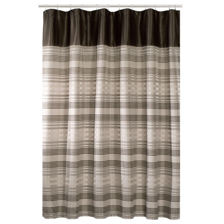 hometrends Blake Fabric Shower Curtain with PEVA Liner   Walmart ...