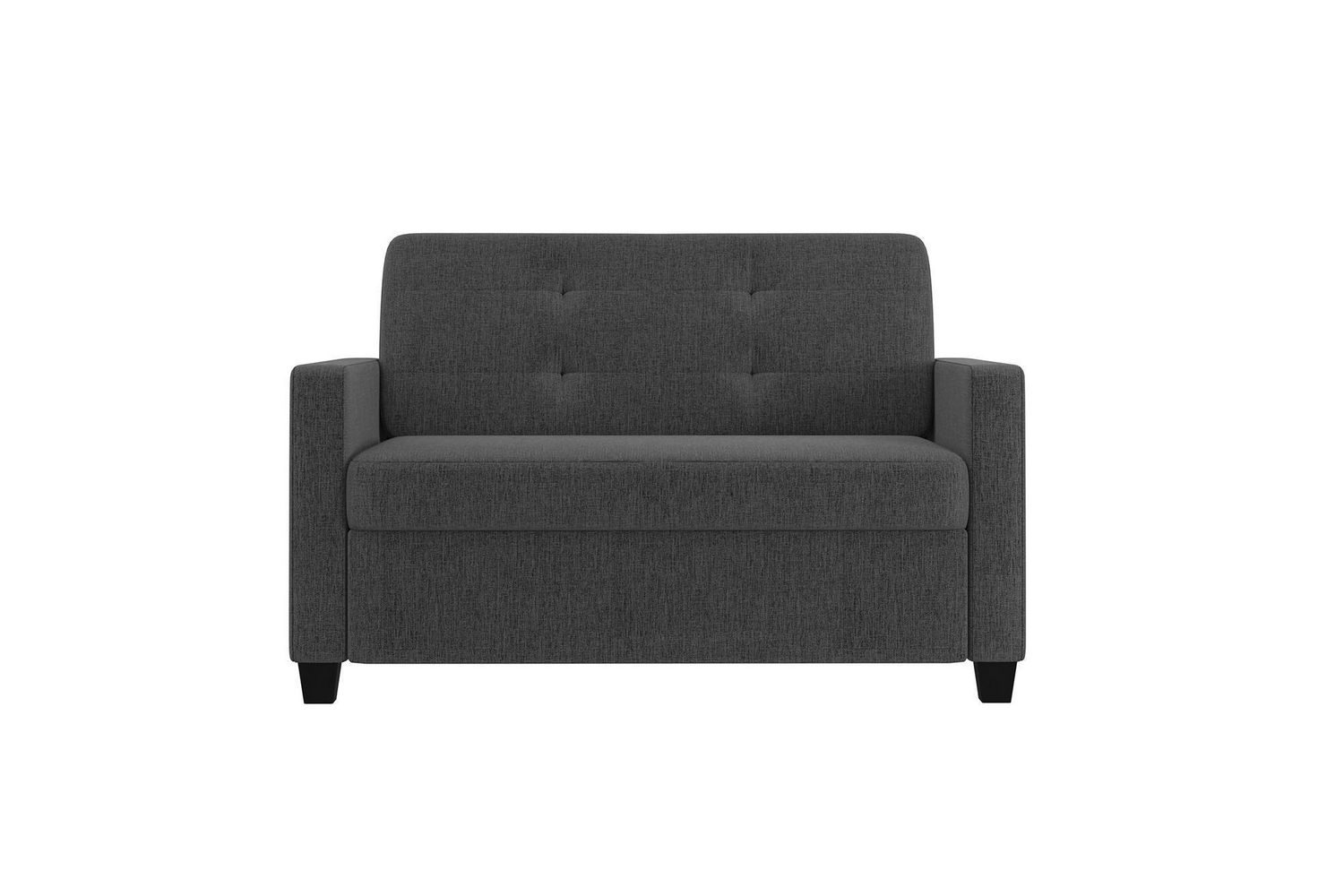 - Devon Grey Linen Sleeper Sofa With Memory Foam Mattress Walmart