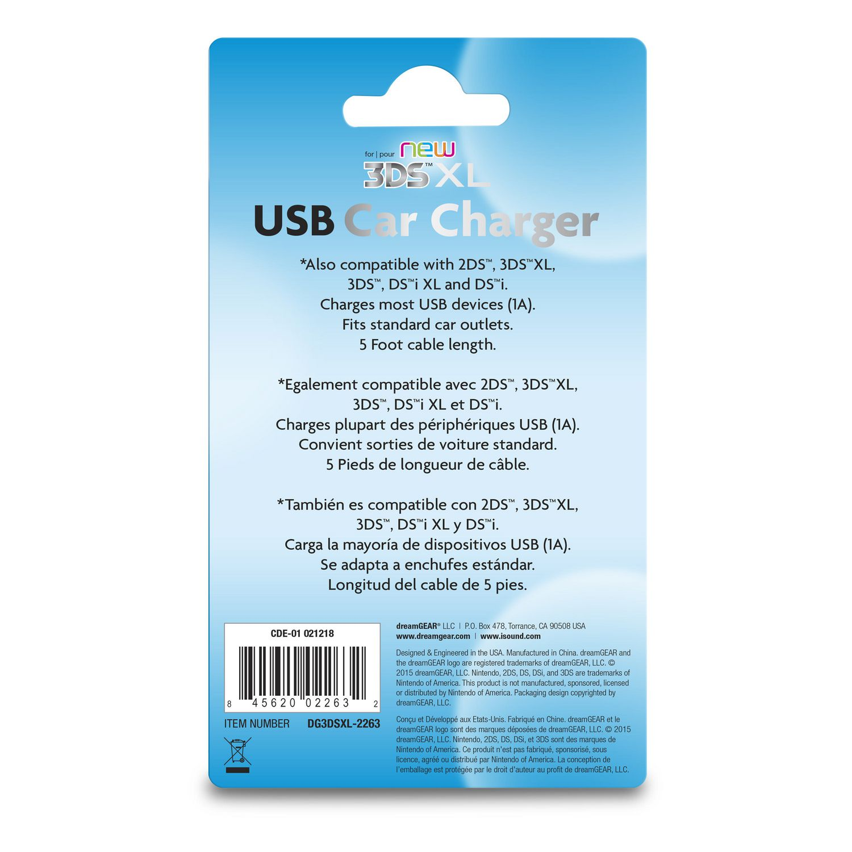 dreamGEAR USB Car Charger for Nintendo New 3DS XL | Walmart Canada