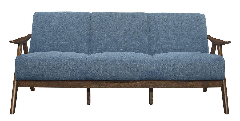 Topline Home Furnishings Blue Fabric Sofa Walmart Canada
