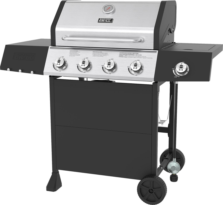 Préparer Un Barbecue Pour 20 Personnes barbecue backyard grill à 4 brûleurs au propane