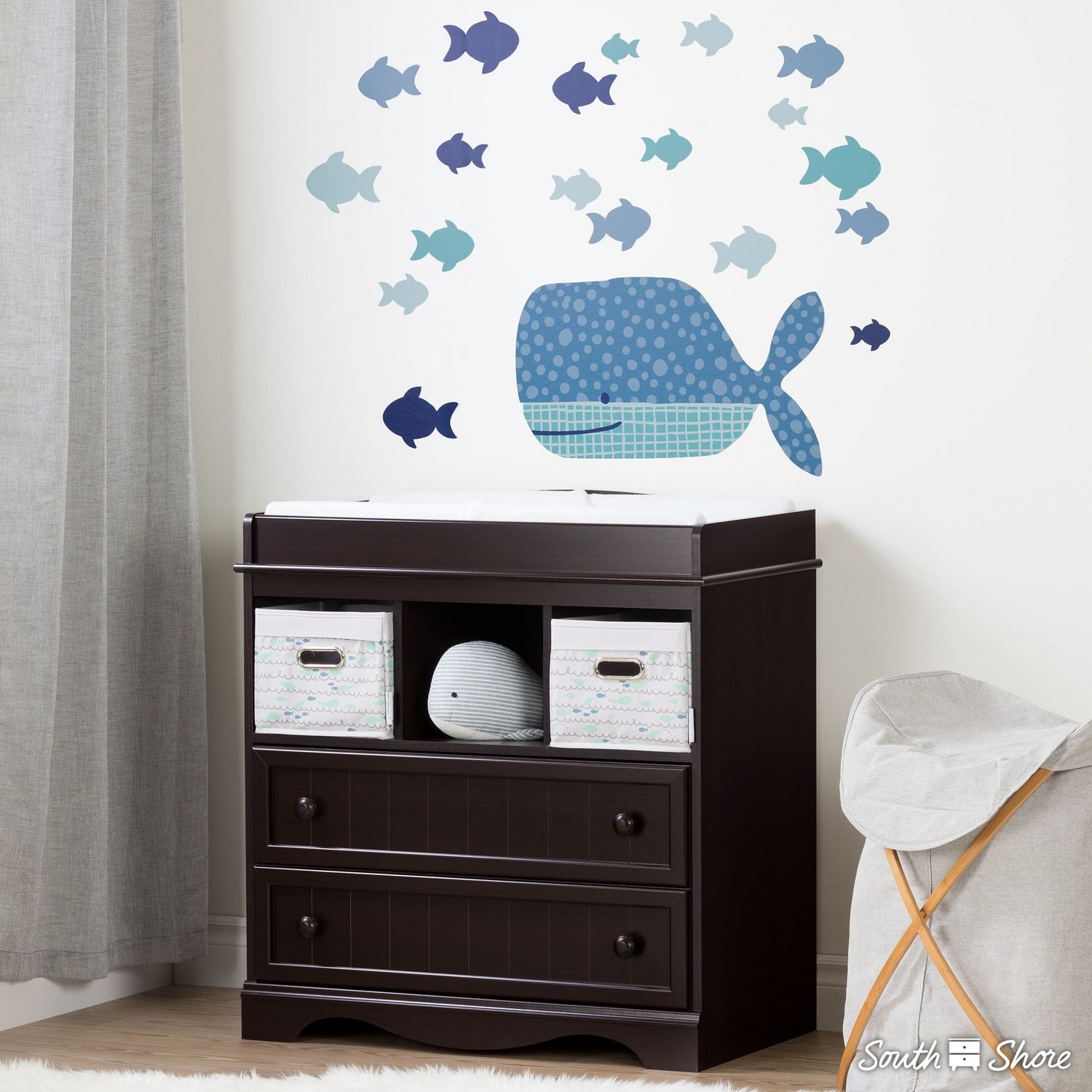South shore dreamit blue little whale wall decals walmart canada amipublicfo Gallery