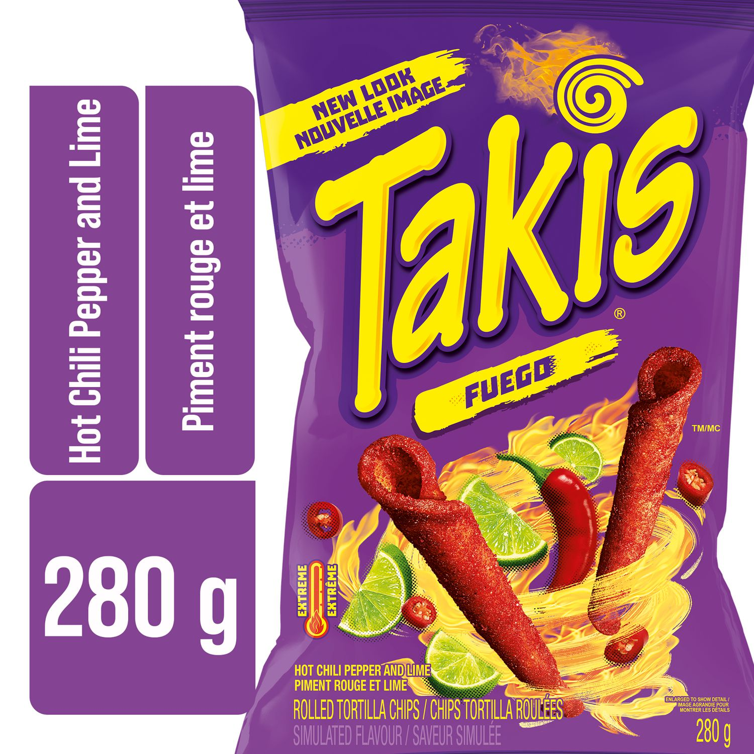Takis Fuego Hot Chili Pepper And Lime Flavoured Rolled Tortilla