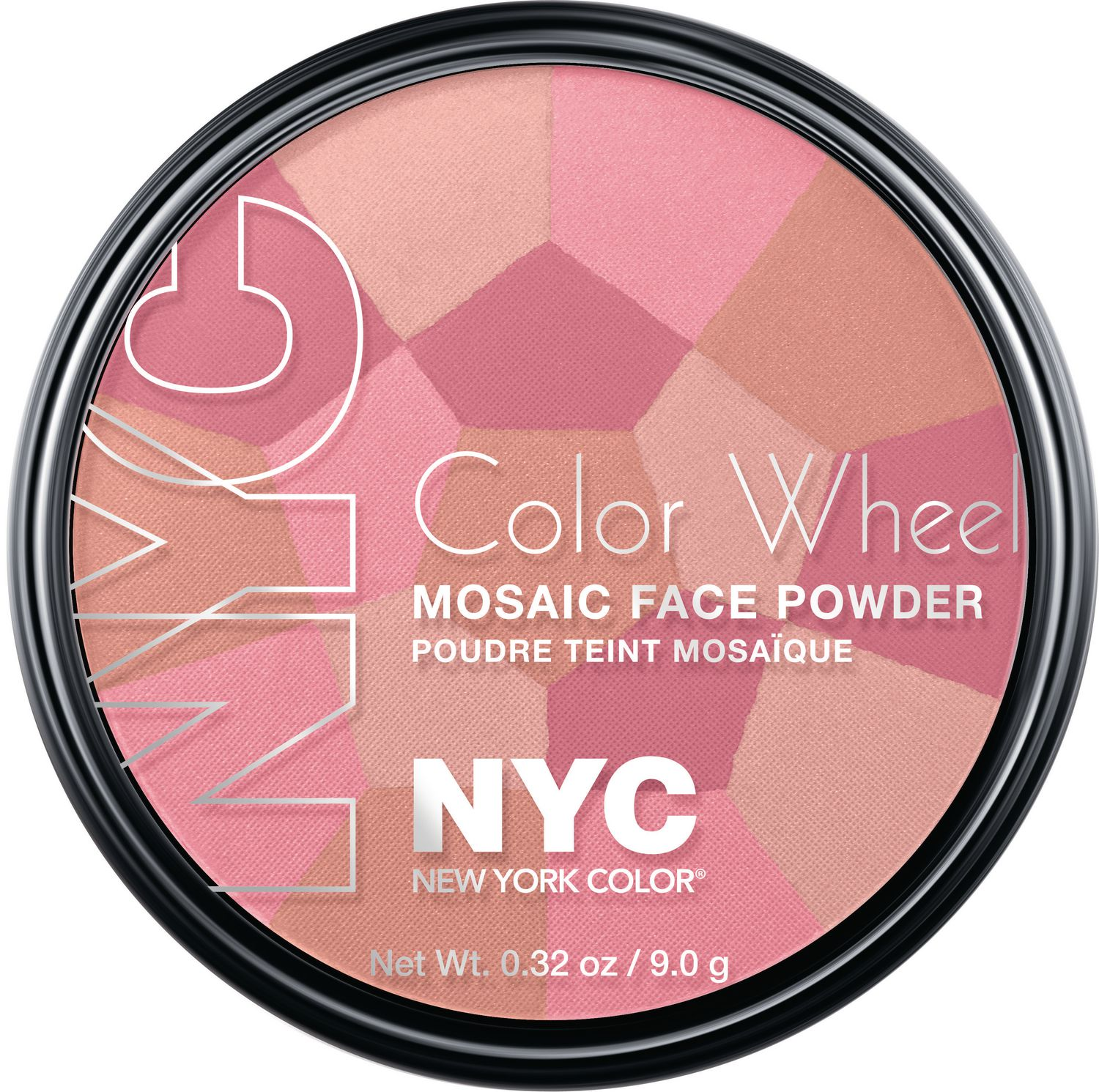 NYC New York Color Wheel Mosaic Face Powder 9 G