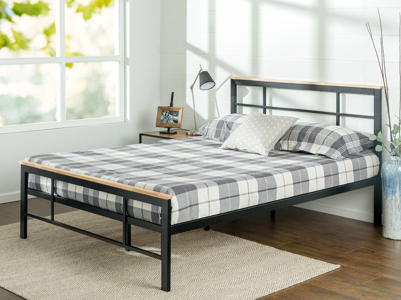 Wayfair Metal Headboards Newton Metal Headboard Size Queen: Zinus Urban Metal & Wood Platform Bed