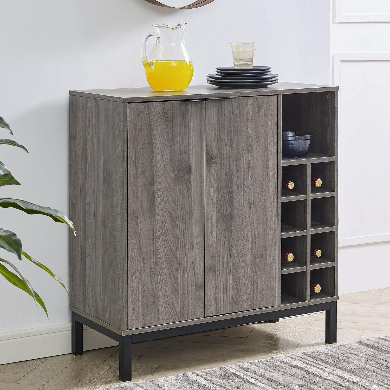 Image of: Mid Century Modern Buffet Bar Cabinet With Storage Slate Grey Walmart Canada