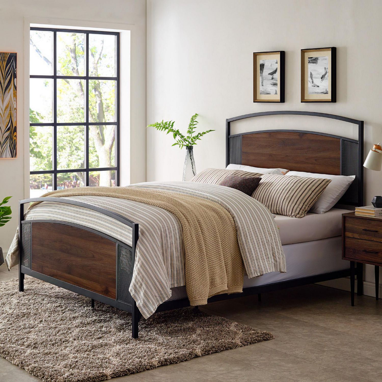 Manor Park Queen Industrial Mesh Bed Frame And Headboard Walmart Canada